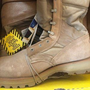 Men's army boot steel toe